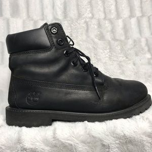 Timberland Waterproof Black Leather Combat Boots